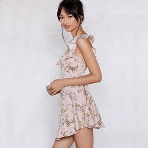 Nasty Gal open back floral dress